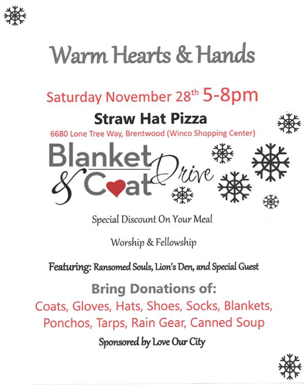 Warm Hearts & Hands flyer