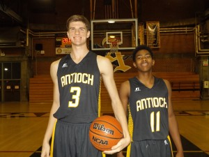 Antioch High top players, senior forward Jake Perky and junior point guard Caleb Smith.