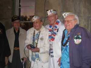Pearl Harbor surviving veterans light the Beacon atop Mt. Diablo. photo  by Charla Gabert