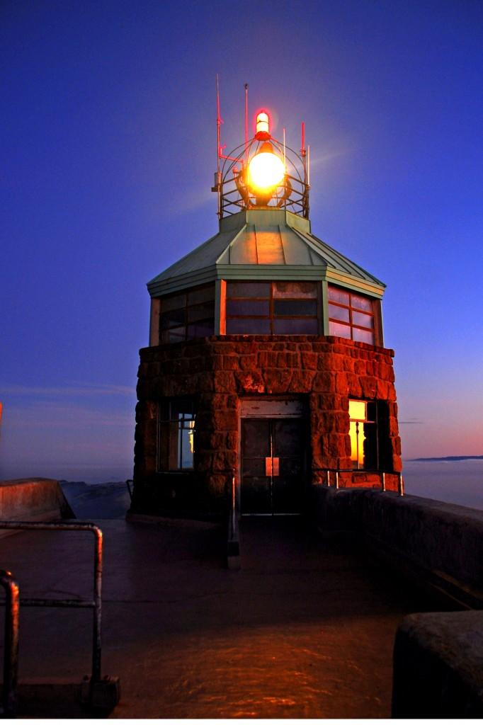 Mt Diablo lit Beacon by Clayton Worsdell