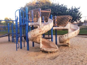 The playground before the new installation.
