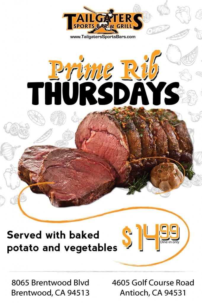 Prime Rib Thursdays TG
