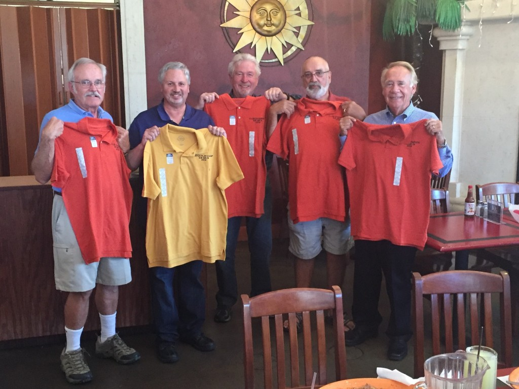 SIR Branch #19 2015 Golf Champions (left to right) are Rich Peterson, Gary Kaufmann, Bill Boyer, Jerry Burton and Jack Duncan.