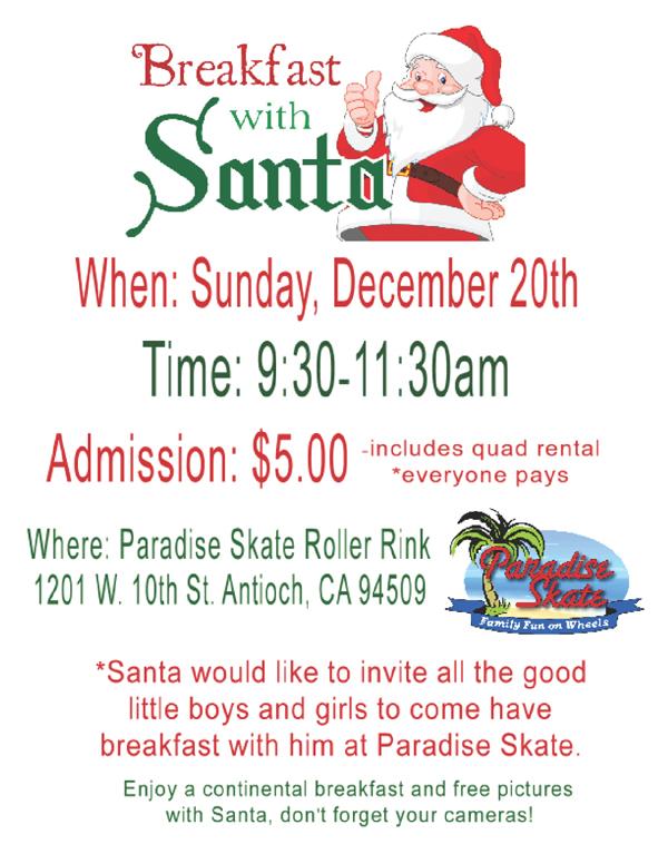 Santa at Paradise Skate
