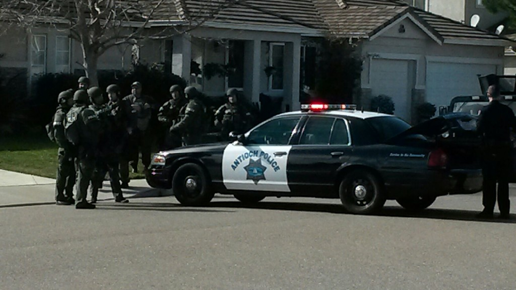 Antioch SWAT team searches for burglary suspects, Saturday morning, January 30th.