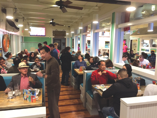 Diners enjoy Hurricane Grill