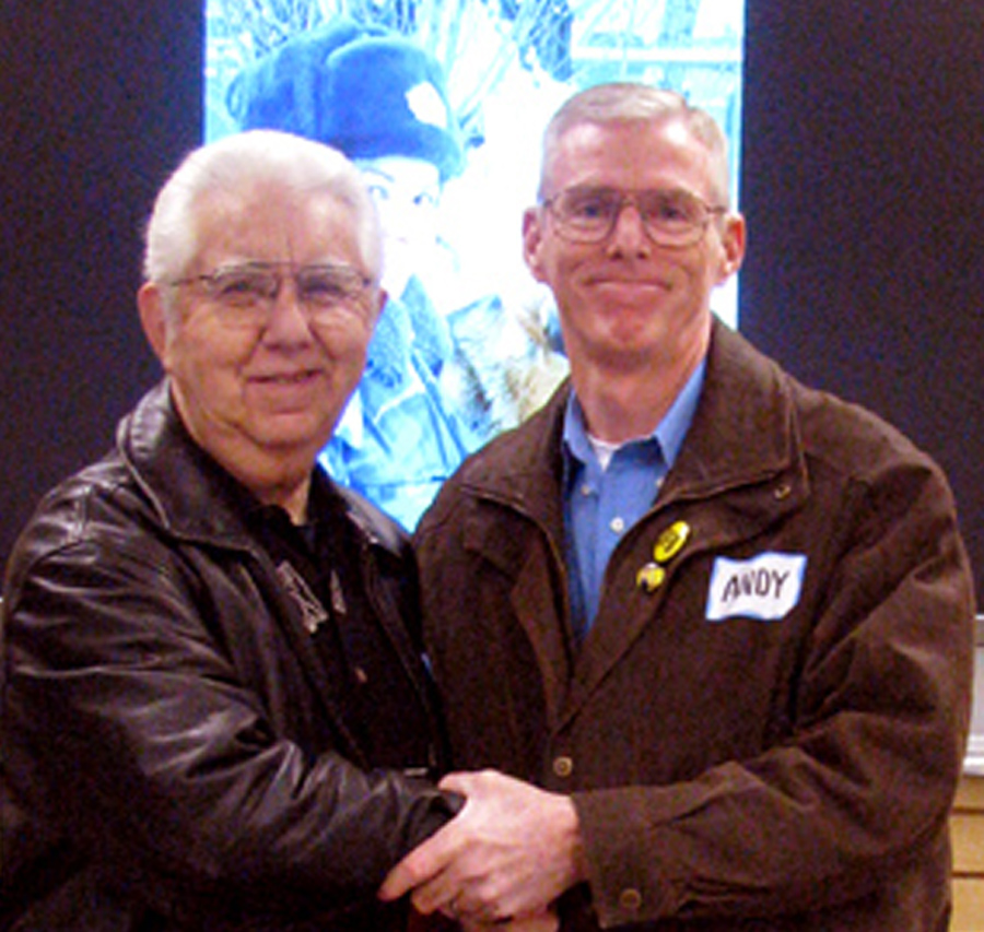 Dick Augusta, left with fellow co-founder Andy O'Hara of the Badge of Life Police Suicide Group.