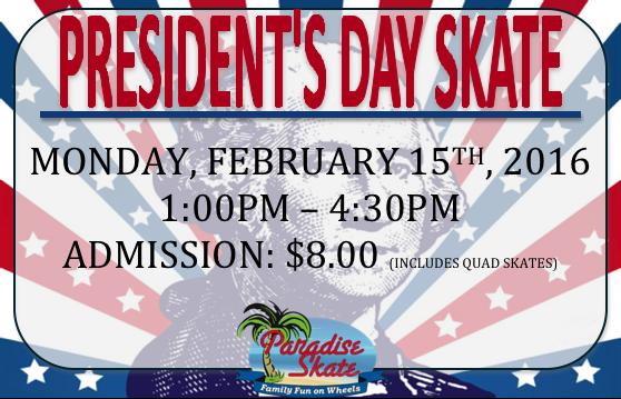 President's Day Skate Special