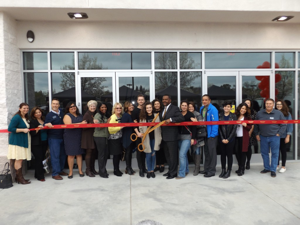 Antioch business and community leaders joined Pastor Shaun and Dianna Nepstad (with scissors) for the ribbon cutting of Fellowship Church's new building on Lone Tree Way on Thursday, March 3rd, 2016.