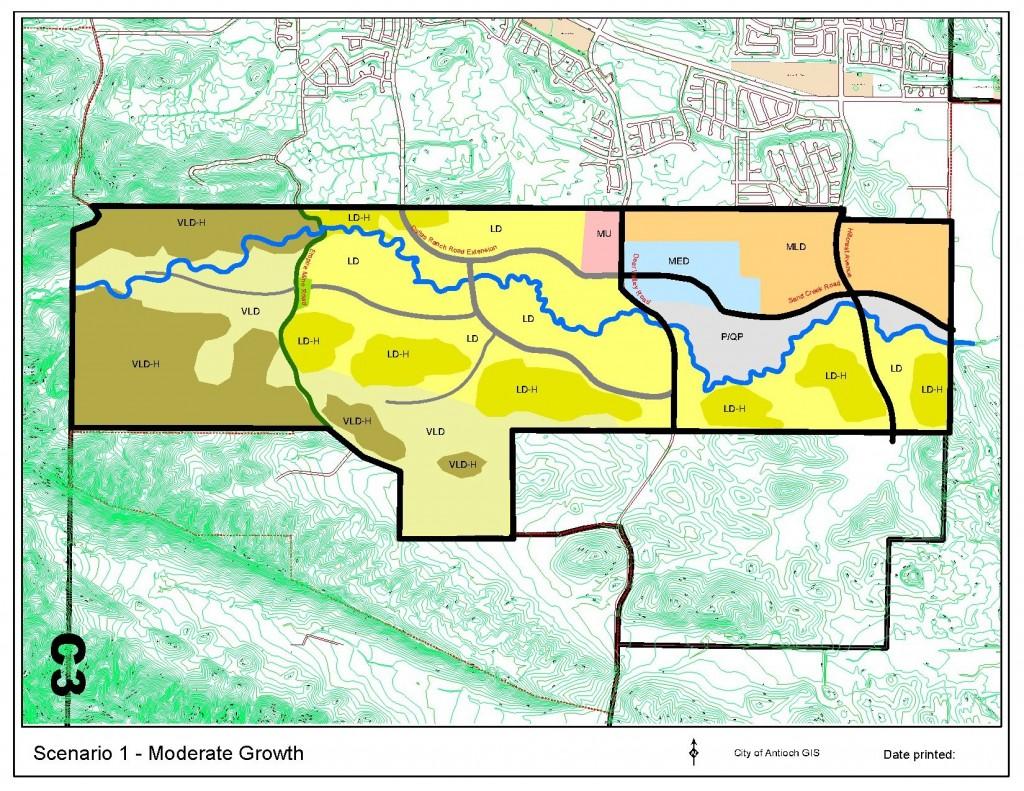 Sand Creek map Scenario 1 Moderate Growh