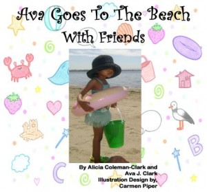 Ava Goes to the Beach with Friends Cover