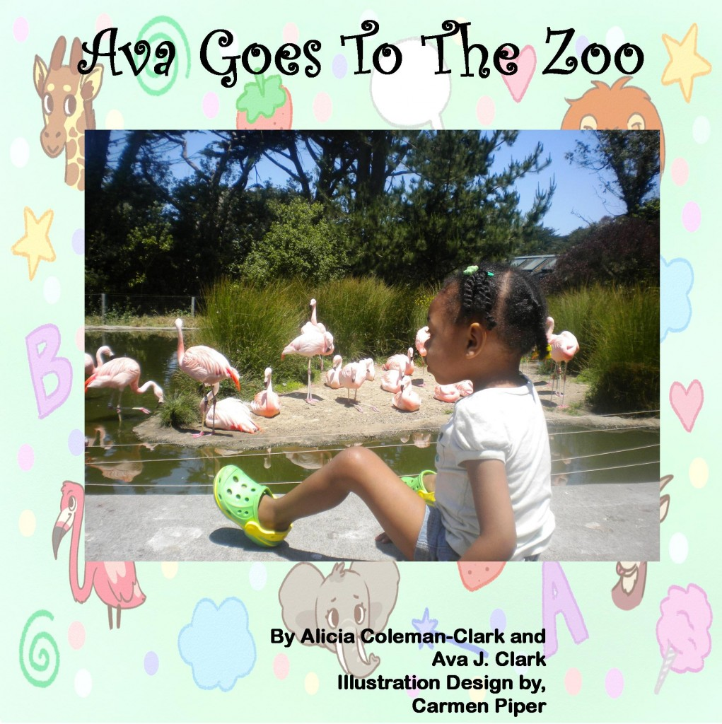 "Book cover for ""Ava Goes to the Zoo."""