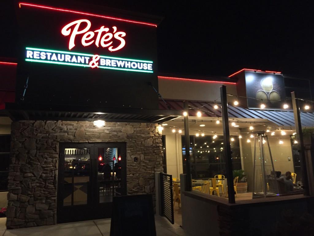 Pete's outside night