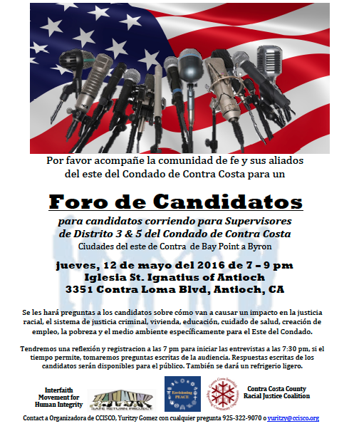CISCO Candidates Forum Thurs 5-12-16 Spanish