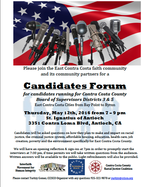 CISCO Candidates Forum Thurs 5-12-16