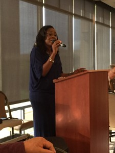 Emery Williams of The Church @ Antioch sings America the Beautiful at the beginning of the annual Antioch Prayer Breakfast on Thursday, May 5.