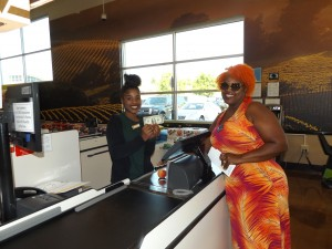 Antioch business owner and resident Kym Kelley made the first purchase at the new store.