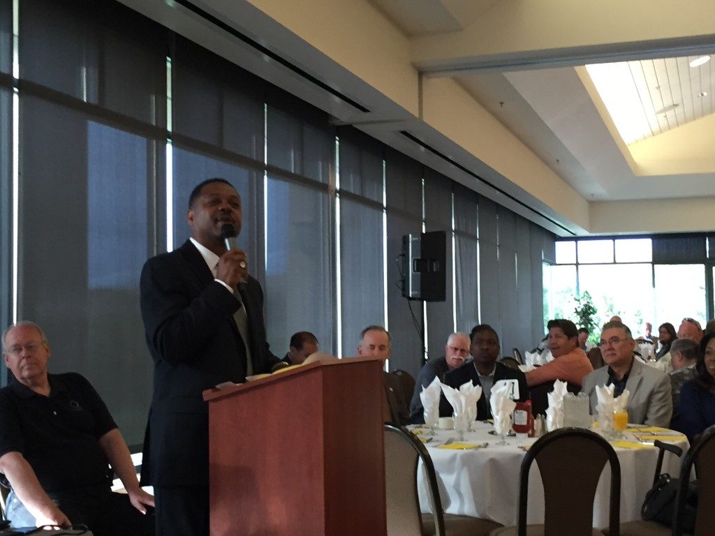 Antioch Mayor Wade Harper opened the annual Antioch Prayer Breakfast by leading the Pledge of Allegiance and with a prayer on Thursday, May 5.