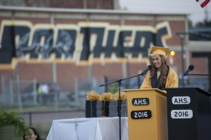 Antioch High ASB President Julia Odom shares her parting thoughts with the Class of 2016.
