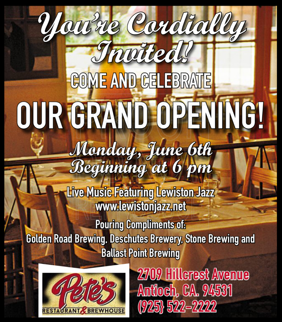 Pete's Grand Opening 6-6-16