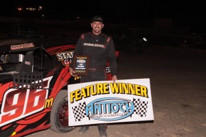 Aaron Crowell drove the #96 Paul Mulder Car to his second B Modified feature victory.  Photo By Paul Gould Photography