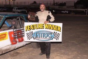 Stock Car veteran Danny Jones #66 grabbed his second Hobby Stock Main Event win. Photo by Paul Gould