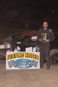 K.C. Keller #38 drove a great race to earn his second B Modified win. Photo by Paul Gould