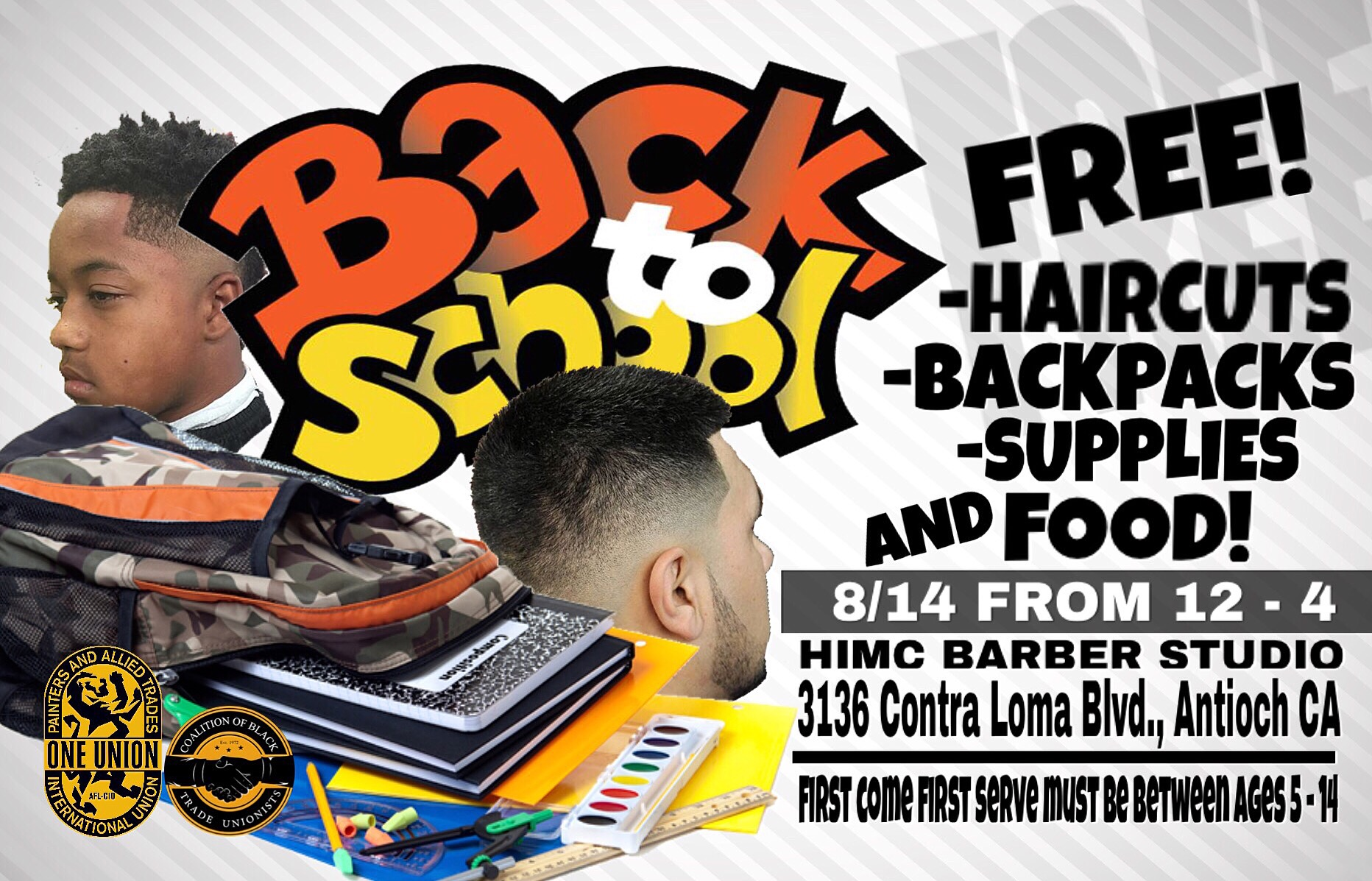 Free Back To School Haircuts Backpacks And Supplies At Antioch