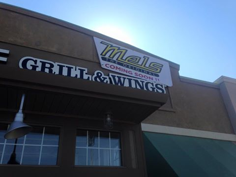 "A ""Coming Soon"" banner went up on the former Hurricane Grill & Wings location one Lone Tree Way in Antioch, Wednesday, promoting the new Mel's Diner."