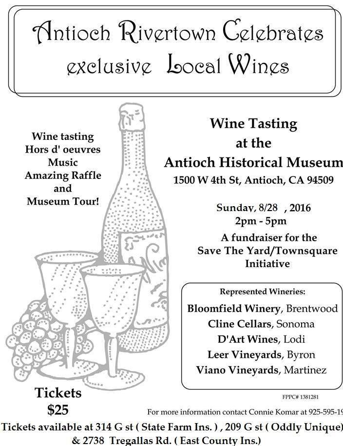 Wine Tasting fundraiser Save The Yard