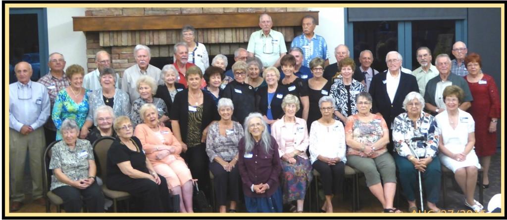 Antioch High School Class of 1956 60th reunion attendees.