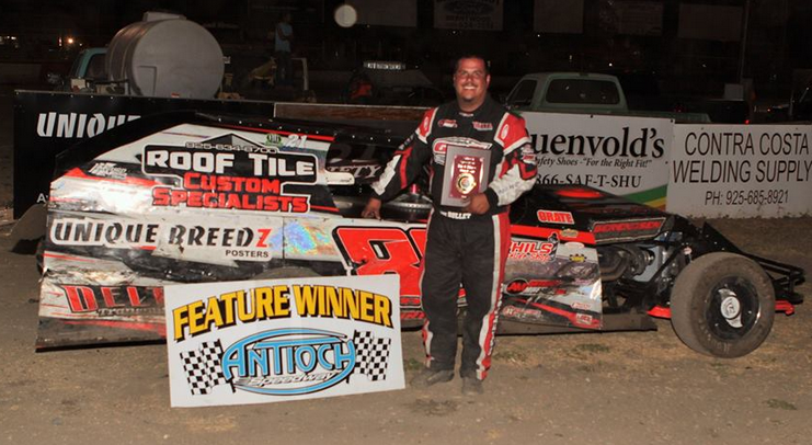 Point leader Carl Berendsen II #88 finally won his first career A Modified Main Event last Saturday night.  Photo By Paul Gould