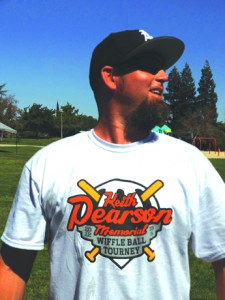 Brian Howerton proudly displays this year's T-shirt.