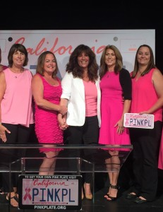 Pink Plate co-founders, Carla Kimball (center) and Survivor Sisters of Contra Costa County (L-R) Deborah Bordeau, Heather McCullough, Chere Rush and Heather Solari. photo courtesy of pinkplate.org.