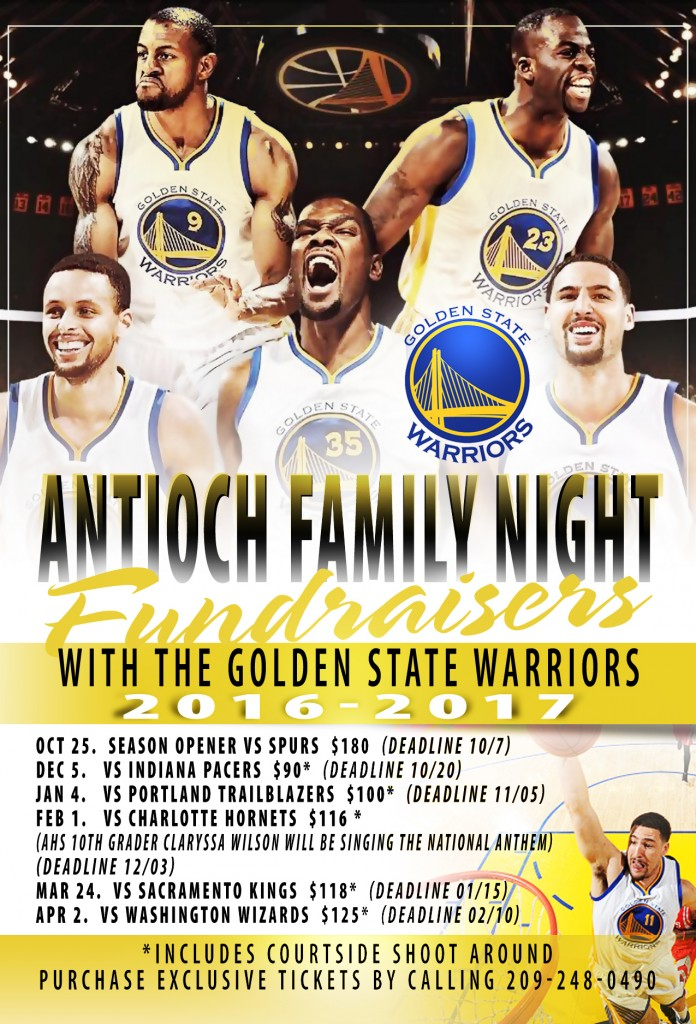 LIMITED space is available for kids to be Anthem Buddies where they stand with the Warriors players during the National Anthem and the Courtside Shoot Around. Support our schools and enjoy the game.