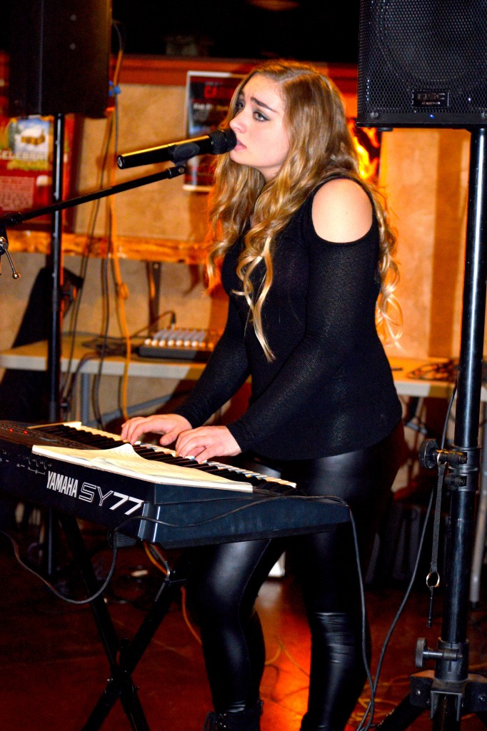 Carina sings, plays keyboards and guitar during her concert. See her live at the Streets of Brentwood, this Saturday night, November 26th.