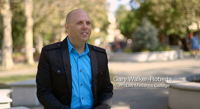 Gary Walker-Roberts in a screenshot from a video on the CCCCD website.