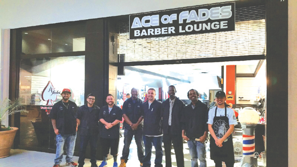 The barbers of Ace of Fades Barber Lounge, inside Somersville Towne Center in Antioch, are ready to serve you.