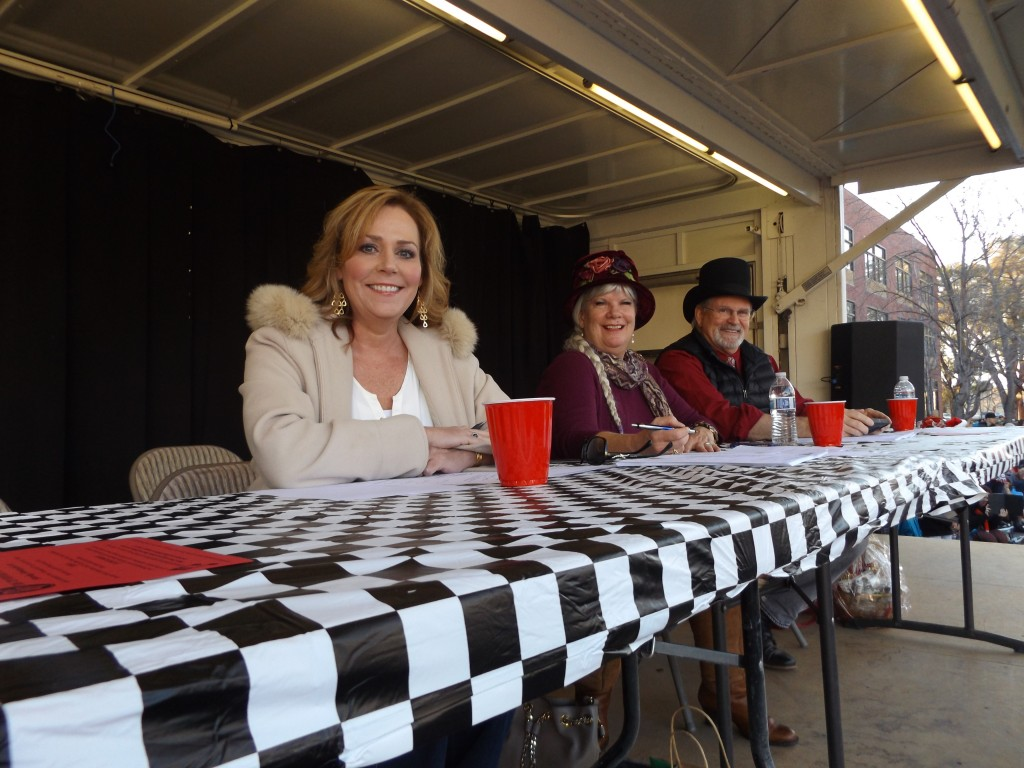 The panel of judges included Antioch Unified School District Superintendent Stephanie Anello, Katie Cook and Tom LaMothe in their various period costumes.