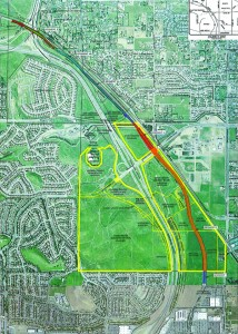 Map of the East Lone Tree Specific Plan and Benefit District area.