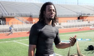 Najee Harris at the U.S. Army All-American Bowl practice field. Source: AL.com