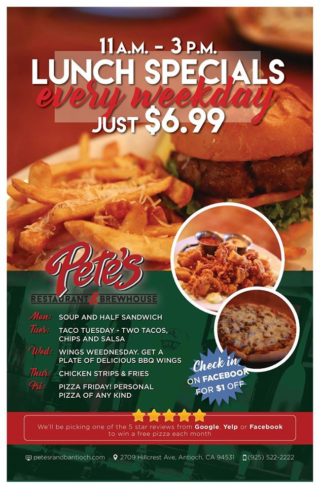 Pete's Lunch Specials
