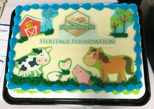 This carrot cake donated by Jeff Warrenburg was auctioned off for $200.