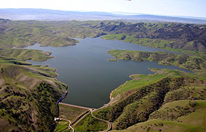 The 100,000 acre-foot Los Vaqueros Reservoir