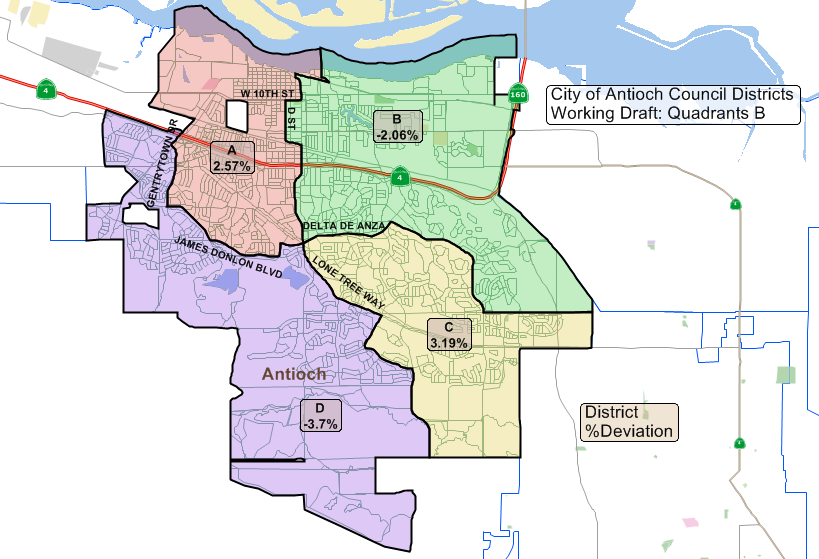 Antioch Council to consider narrowing four alternative district maps ...