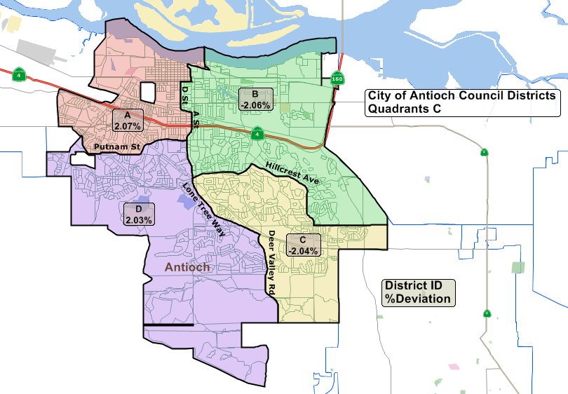 Antioch Council districting workshop results in changed Quadrants ...