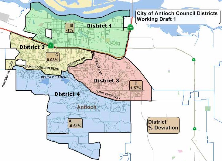 Divided Antioch Council votes 3-2 for map using Highway 4 to divide ...
