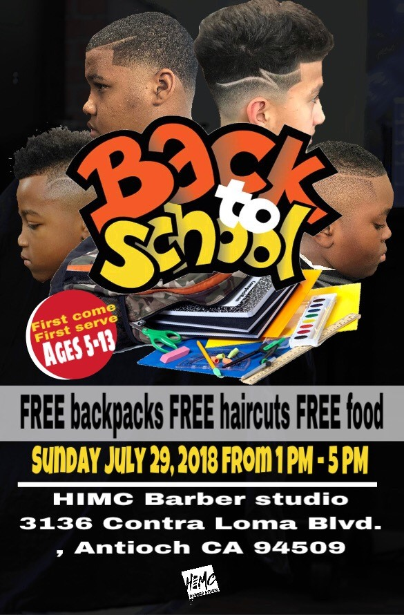 Back To School Event At Himc Barber Studio In Antioch Offers Free