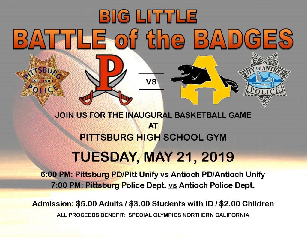 5401cb4d286 Battle of the Badges Antioch vs. Pittsburg police basketball fundraiser for  Special Olympics Tuesday